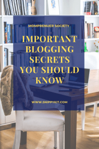 Important Secrets You Should Know About Blogging