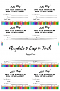 Mom Life || Keep in Touch || Free Printable