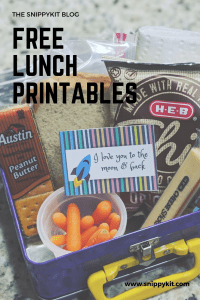 Freebies || Exclusive Lunch Box Note Printable