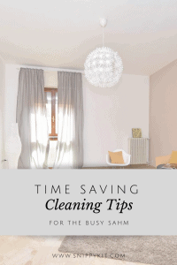 Cleaning Tips for the Busy SAHM + A Free Printable