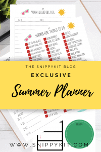 Free Summer Printable to Plan Out Your Summer