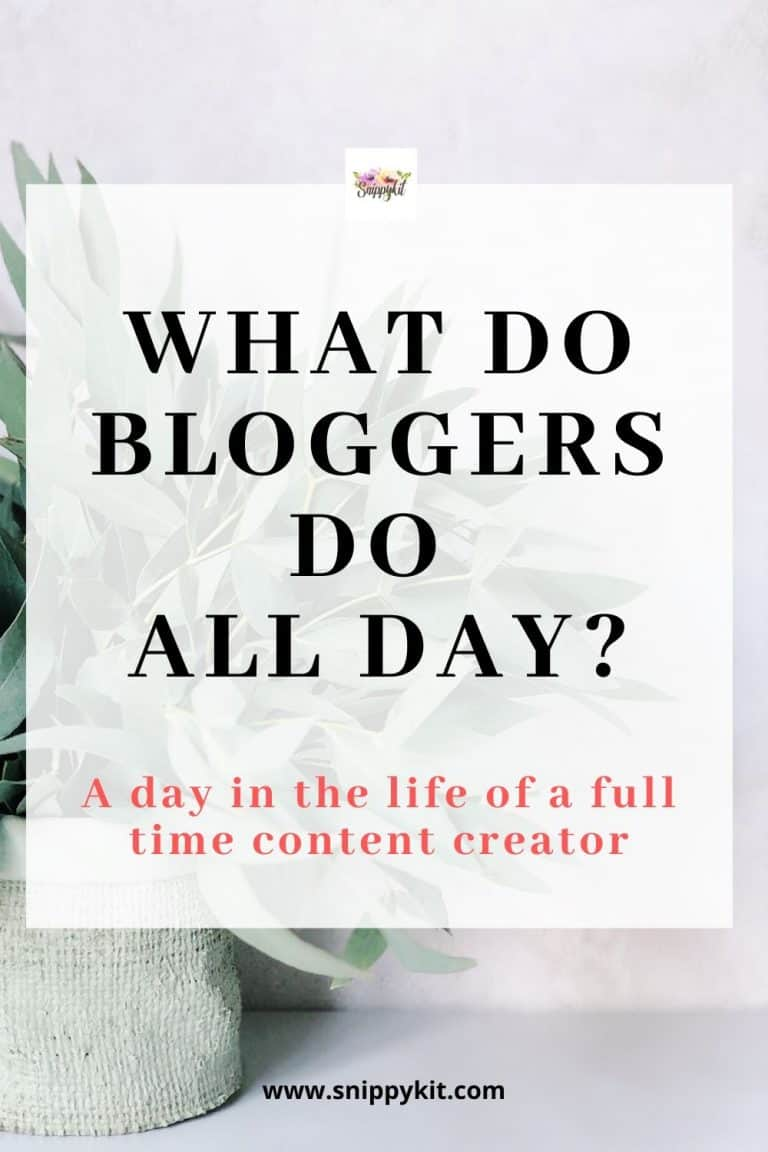 Ever wonder what bloggers do all day? Here's a look into the life of a blogger; what they do, how they make money, and why I chose blogging as my career.
